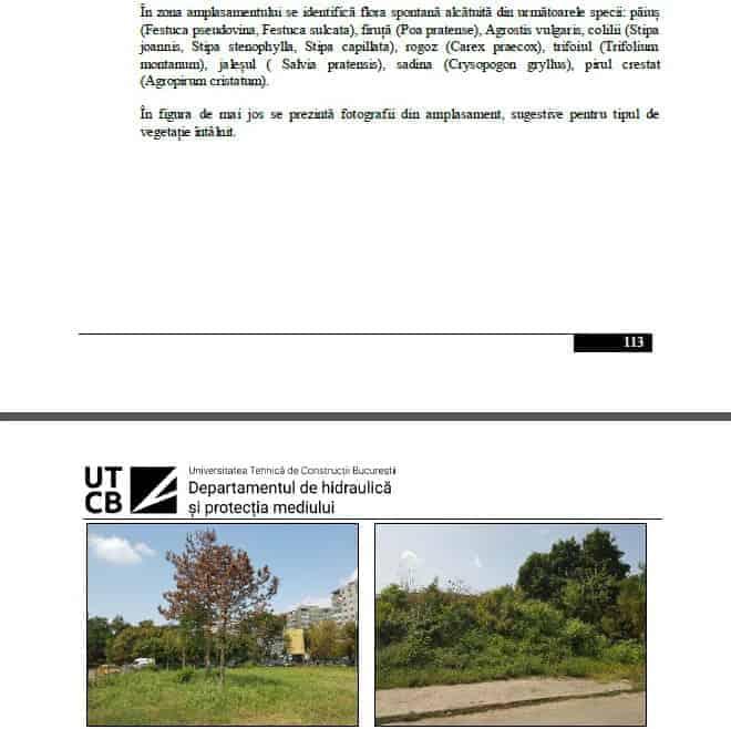 documentatie tehnica UTCB departamentul hidraulica