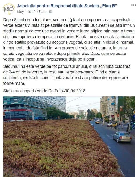 acoperis verde Bucuresti postare facebook Asociatia pentru Responsabilitate Sociala Plan B