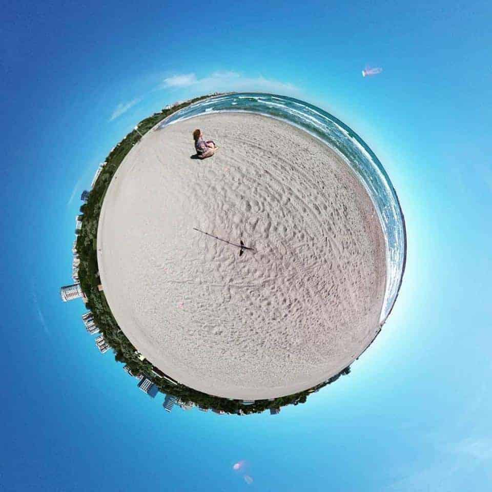 imagine tiny planet Marea Neagra Constanta
