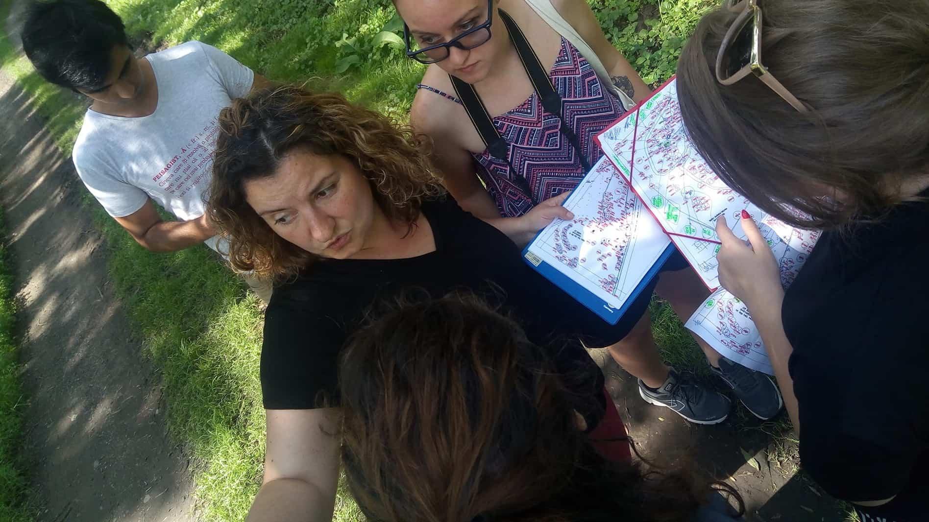 tutoring the landscape architecture workshop at Gornesti Summer School on Teleki Domain (photo: Asociatia ARCHE)