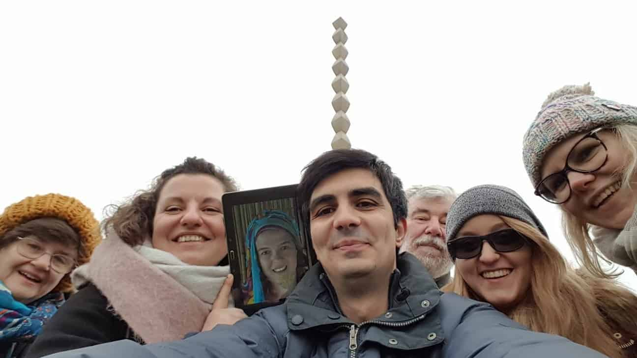 at Brancusi Heroes Path in Targu Jiu with parcuri360 team (photo: parcuri360)