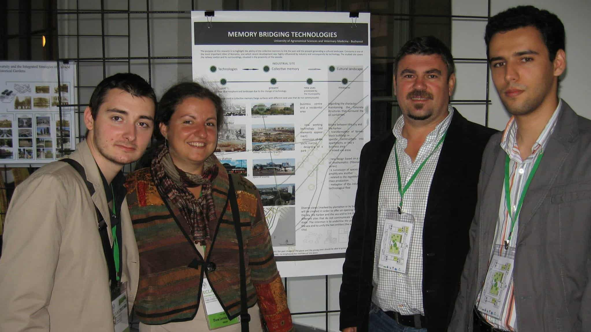 with three of my students that presented their work, developed under my supervision, at European Council of Landscape Architecture Schools conference (photo: Cristian Dan)
