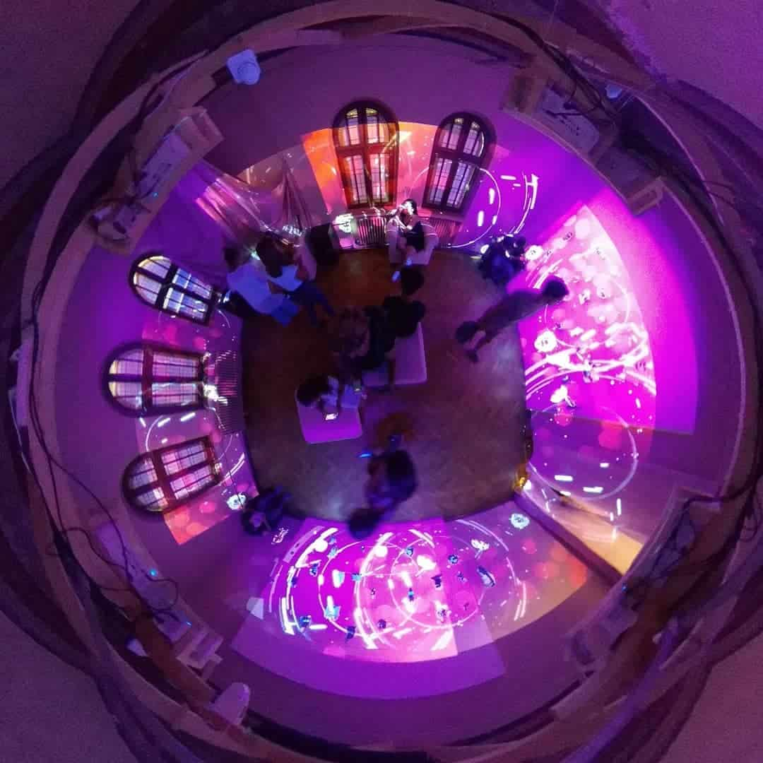 tiny planet pinkish fantasy